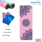 High Quality Suede Rubber Yoga Mat with Custom Printing