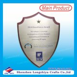 Wholesale Wood Plaque Blank Metal Certificates Wood Shield