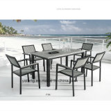 Competive Price Top Selling Outdoor Garden Aluminum+PS-Wooden Furniture Dining Set by Chair&Table (YT386)