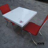 Kingkonree White Dining Table Square Solid Surface Table (180110)
