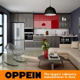 Guangzhou Manufacturer Modern Wooden Laminate Wholesale Modular Kitchen Cabinets (OP16-HPL01)