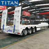 Lowboy Lowbed 3 Axle 80 Ton Heavy Duty Gooseneck Low Loader/Lowbed/ Lowboy/Drop Deck Extendable Low Bed Trailer Price Truck Semi Trailer for Excavator Transport