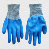 13G Hppe Liner Cut Resistance Nitrile Double Dipped Work Glove