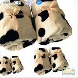 Cow Pattern Printing Super Soft Flannel Fleece Bed Blanket