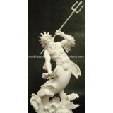 Hot Selling High Quality Natural Marble Poseidon God of The Sea Statue (SY-MS131)