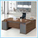 Modern Design Black Walnut Wood Boss Office Desk