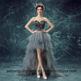 Love May Ladies Nice Black Feather Evening Dress Wedding Dresses Bridal Gowns