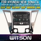 Witson Car DVD Player with GPS for Hyundai New Sonata/I40/I45/I50 (2011-2013) (W2-D8260Y) with Capacitive Screen Bluntooth 3G WiFi CD Copy