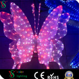 LED Colorful 3D Butterfly Motif Light Animal Sculpture Light