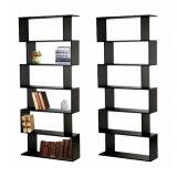 6 Tier S Shape Bookshelf Bookcase Display Unit Divider Storage