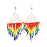 Bohemian Beaded Hand-Woven Fashion Tassel Earrings