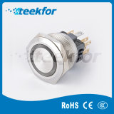 25mm Waterproof IP67 Push Button Switch with Ring LED Light