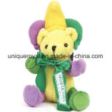 "7"" Mardi Gras Bear Stuffed Toy"
