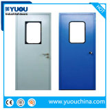 GMP 304 Stainless Steel/Metal/Iron/Galvanized Steel Hygiene Clean Room Flush Swing Entry Security Doors for Interior/Food/Hospital/Pharmaceutical/Laboratory