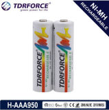 1.2V (HR03-AAA 950mAh) Rechargeable Low Self Discharge Nickel Metal Hydride China Fatory Battery