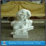 Pure White Marble Statue, Marble Sculpture, Stone Garden Statue