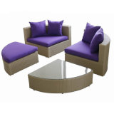 Outdoor Leisure Garden Sofa Wicker Furniture Rattan Sofa Outdoor Furniture S216