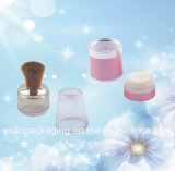 Plastic Packaging Cosmetic Package Cosmetics Container Loose Powder Case (YELLO-163)