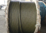 6X36sw+FC or Steel Core Ungalvanized Steel Wire Rope Black