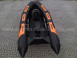 13.8ft Fiberglass Hull Rib Boat with CE Rigid Hull Inflatable Boat with Outboard Motor Fishing Boat