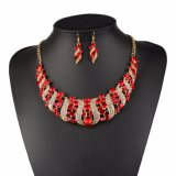 Fashion Jewelry Sets Wedding Necklace Earring Ring Jewelry Sets