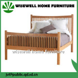 4FT6 Pine Wood Mission Style Slat Double Bed (W-B-0056)