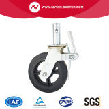 Black Rubber Scaffolding Caster with Cast Iron