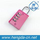 YH9064 Christmas Gift 4 Wheel Pink Combination Padlock Number Code Lock