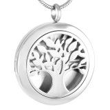 Aromatherapy Jewelry Tree Perfume Locket Essential Oli Diffuser Necklace
