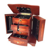 MDF Jewelry Box with Three Open Drawers