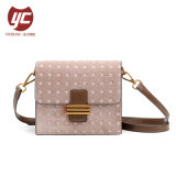 Yc-H065p Wholesale Price Velvet material Contrast Color Fashion Ladies Crossbody Bag Handbag for Gift