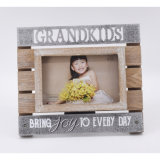 New Wooden Photo Frame with Metal Letters