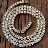 Miss Jewelry Wholesale 18K Gold One Row Diamond Tennis Chain Necklace