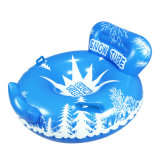 Inflatable Winter Snow Play Blue Snowtube with Backrest Toys