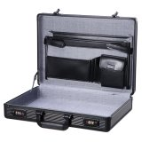 Fashion All Black ABS Hard Aluminum Laptop Briefcase for Men
