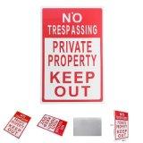 Metal No Trespassing Sign Metal Warning Safety Video Surveillance Sign Camera Safety Metal Reverse Signage