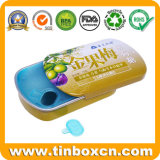 Embossed Small Metal Sliding Mint Tin Box with Plastic Inserts for Gum Candy Sweets Pill Medicine