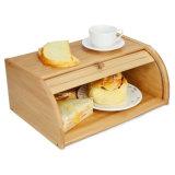 100% Nature Bamboo Wood Bread Box Bin Storage Holder Box Bb-7010