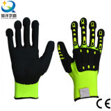 TPR Back Cut Resistance Nitrile Coated Sandy or Foam Finished Gloves TPR Gloves Anti-Cut Gloves