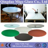 5-15mm Tempered Silk-Screen Printing Glass Tabletop with ISO, Ce