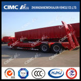 Concave-Beam 2axle Lowbed Semi Trailer Without Cover on Tire
