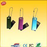 Customized Mini Swivel Metal USB Key with Chain