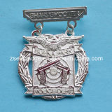 Zinc Alloy Police Lapel Pin with Silver Finish (Ele-P007)