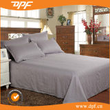 Hotel Bed Sheets & Pillowcases, Cotton White Saten Stripe Bed Sheetset