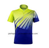 Quick-Drying Unisex Polyester Badminton Polo Shirt with Sublimation Print