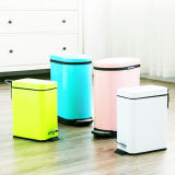 Square Stainless Steel Garbage Can Rustbin
