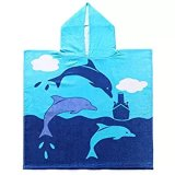 Custom Full Printing 100%Cotton Kids Hooded Bath Towels for Boy