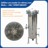 Industrial 304 316 316L Stainless Steel Cartridge Filter Housing with 10′′ 20′′ 30′′ 40′′ Length