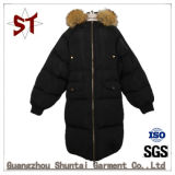Top High Ladies Down Jacket with Fur Collar