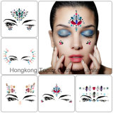 New Acrylic Resin Glitter Adhesive Face Gems Rhinestone Jewel Festival Party Body Tattoo Stickers Face and Eyes Sticker (SE100)